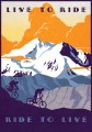 Live To Ride - plakat rowerowy