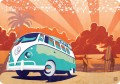 VW Transporter Retro Surf - plakat