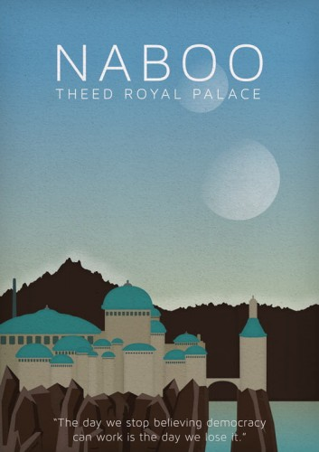 Star Wars - Naboo - plakat