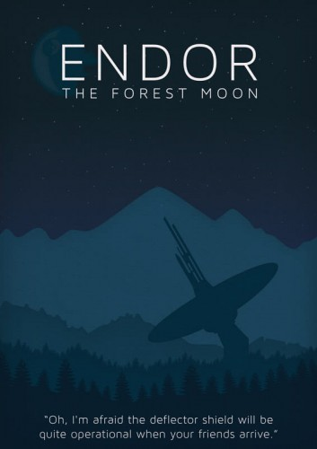 Star Wars - Endor - plakat