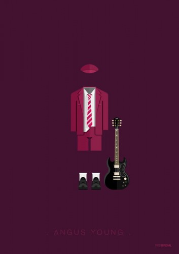 Angus Young - AC/DC - plakat