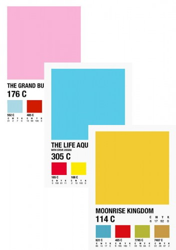 Wes Anderson - zestaw Pantone Collection (aut. Daniel Devoy)