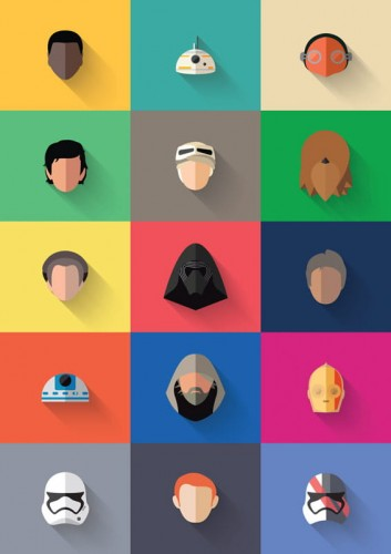 Star Wars: The Force Awakens - New Icon Set  - plakat