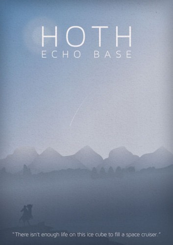 Star Wars - Hoth - plakat