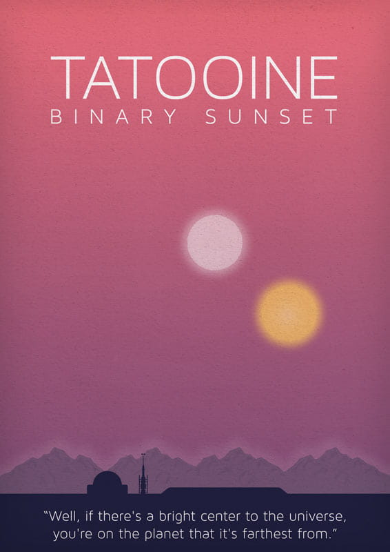Star Wars - Tatooine - plakat